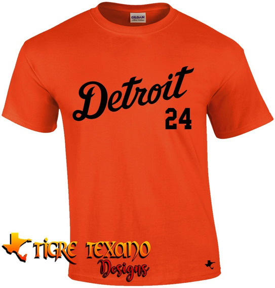 Playera Mlb Tigres De Detroit Mod. 1 By Tigre Texano Designs