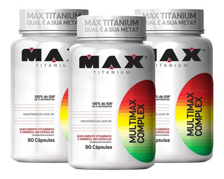 3x Multivitamínico Multimax 90 Cápsulas - Max Titanium