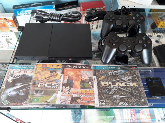 Playstation 2 + 2 Controle + 1 Memory Card + Jogos Brinde
