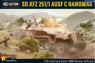 Sd.kfz 251 1 Ausf C Hanomag German Halftrack Miniature