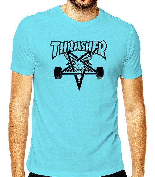 Camiseta Thrasher Logo Skate Board Goat Magazine Rap Hiphop