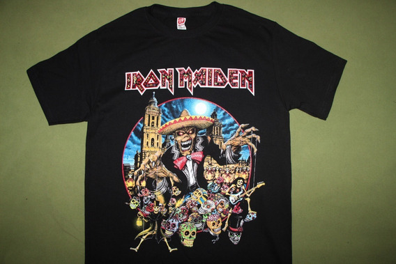 Gusanobass Playera Metal Rock Iron Maiden Legacy Mexico Tour
