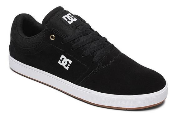 Zapatillas Dc Crisis (blw) Skate Negro Logo Blanco