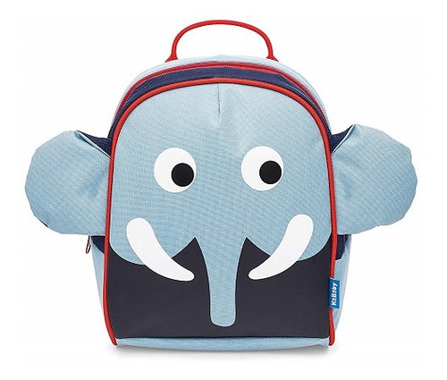 Imagem 1 de 1 de Mochila Com Guia Kababy Elefante Azul Claro
