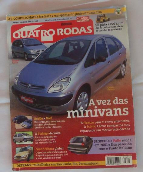 Revista 4 Rodas Ano 40 Janeiro De 2000