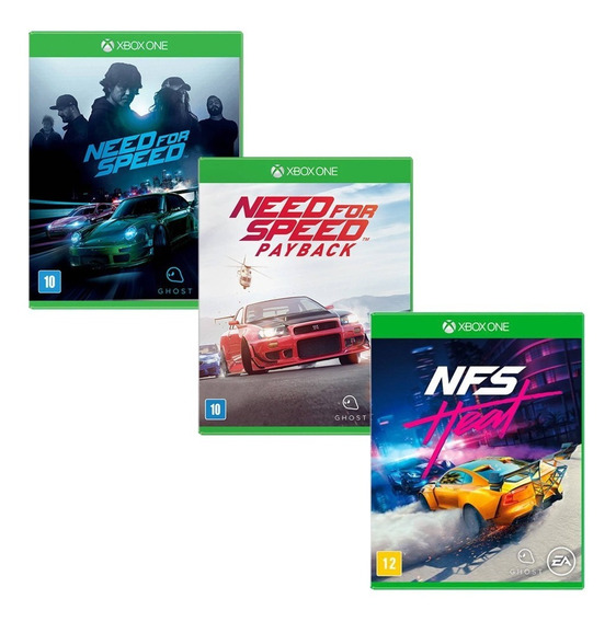 Need For Speed + Payback + Heat - Xbox One - Novo - 3 Jogos