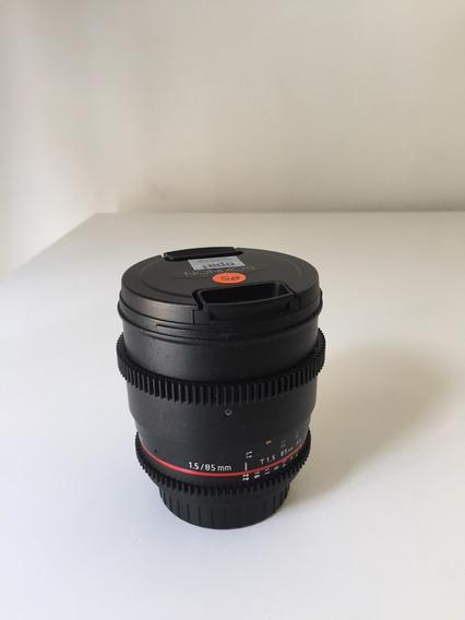 Lente Rokinon 85mm Linha Cine - Praticamente S/ Uso