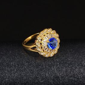 Anéis Para Mulheres 18 K Banhado A Ouro Partido Jóias