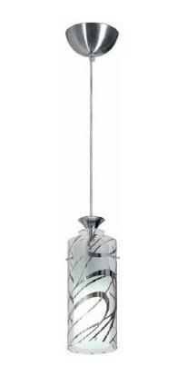 Luminaria Pendente Copo Vidro E Aluminio 11cm E27