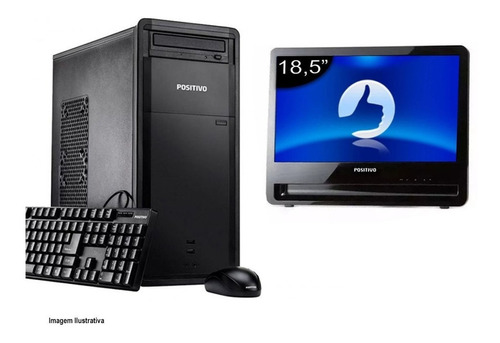 Computador Positivo D60 I3 4° Geração 8gb 120ssd Monitor 18