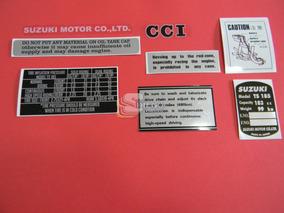 Kit De Adesivos Da Época (réplica) Suzuki Ts-185 71 A 75