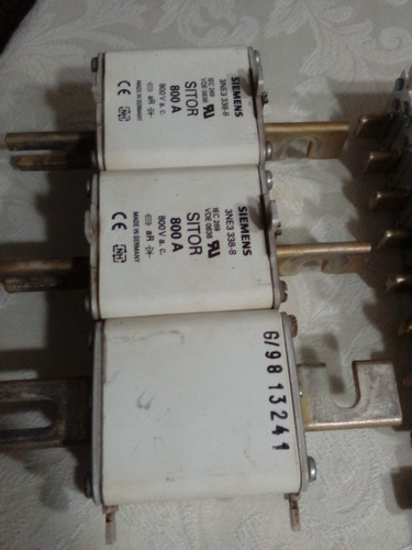 Fusible Sitor, Marca Siemens, Modelo 3ne3338, 800 Amp, 800v