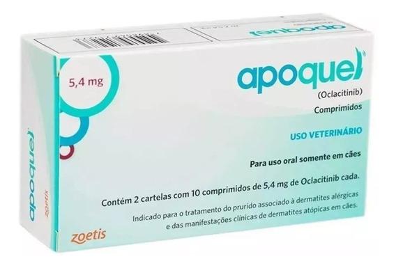 Apoquel Dermatológico Cães 5,4 Mg - 20 Comp. Val. Nov/2020