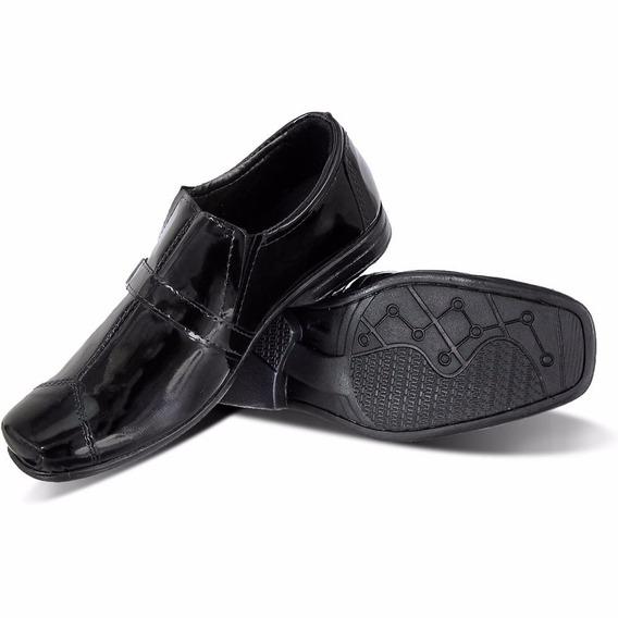 Sapato Social Infantil Couro Legítimo Verniz 50% De Desconto