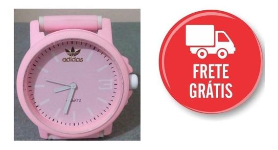 Relógio Rosa Bebê Color Colorido Casual Sport Frete Grátis