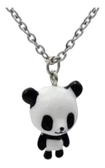 Urso Panda Corrente Com 35cm E Pingente Com 3cm Pandinha Um Verdadeiro Charme Presente Namorada Natal Amigo Secreto