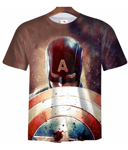 Remera Sublimada Capitan America Ranwey Cs209