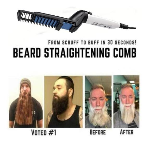 Pente Elétrico Modelador Alisador Barba E Cabelo Masculino