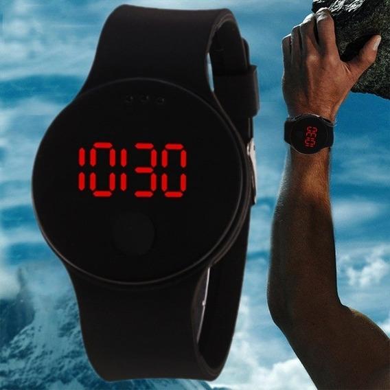 Relógio Digital Unisex Geneva, Preto C/pulseira De Silicone
