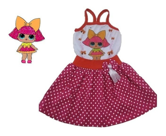 Vestido Infantil Boneca Lol Glitter -roupa/fantasia