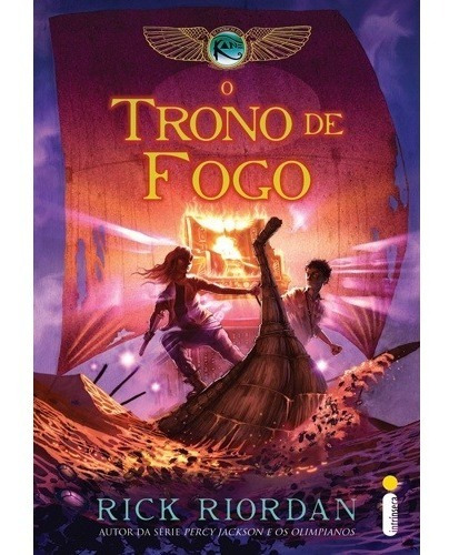 Livro O Trono De Fogo - Cronicas Dos Kane Vol.2- Rick Riodan