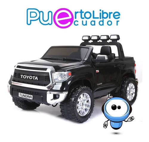 Liquidacion Carro Grande Bateria 2 Niños Toyota + Luces