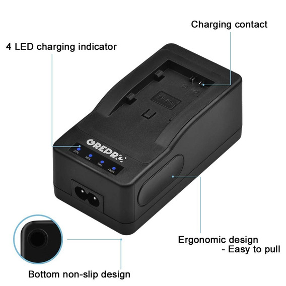 Cargador Rapido Compacto Bp-828 Ultra Fast Charger With Cabl