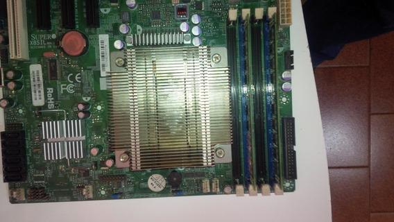 Kit Placa Mãe Super Micro X8sil Rev 1.0 Xeon 3430 ,4gb Memória