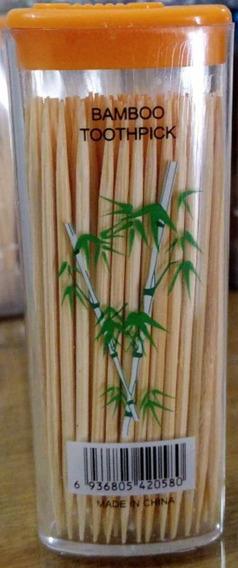 Escarbadientes Palillos De Bambu X100 No Se Quiebran $