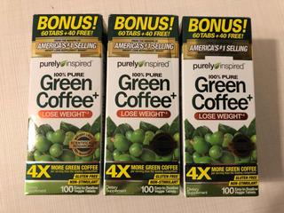 Café Verde (green Coffee) - 100 Tabletes Por Caixa (kit C/3)