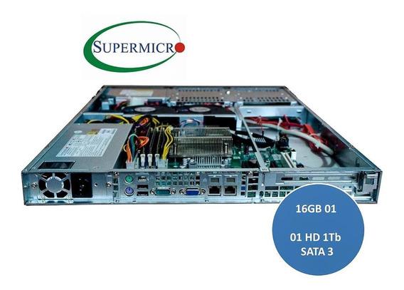 Servidor Supermicro Rack 1u 16gb 1tb Hd