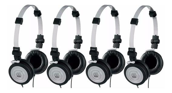 Kit Com 4 Fones De Ouvido Headphone Akg Profissional K414p