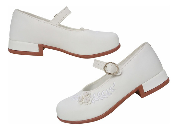 Sapato Com Salto Infantil Com Flores Ortopasso