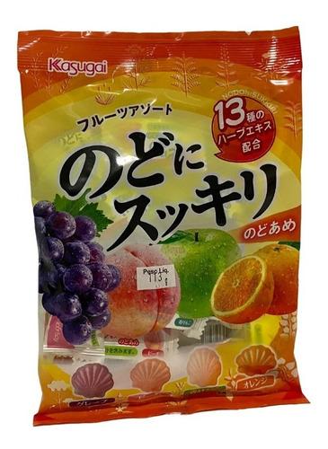 Imagem 1 de 1 de Bala Frutas Nodo Ni Sikkiri Fruits Assorted Kasugai Japão
