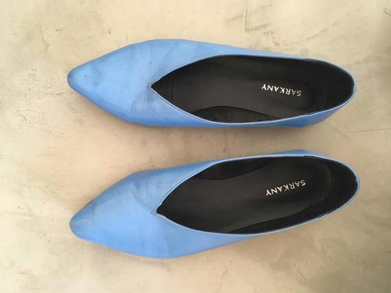 Zapatos Charol En Punta Sarkany Celestes 38