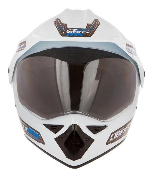 Capacete para moto Pro Tork Liberty MX Pro Vision brancoM