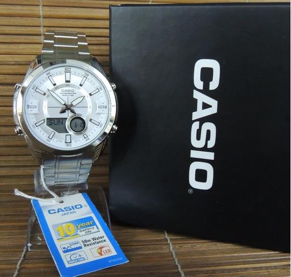 Relógio Casio Masculino Hora Mundial Amw-810d-7avdf - Nf