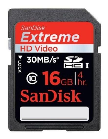 Cartão De Memória Sandisk Sd Card 16 Gb   Sdhc, 300x   Class