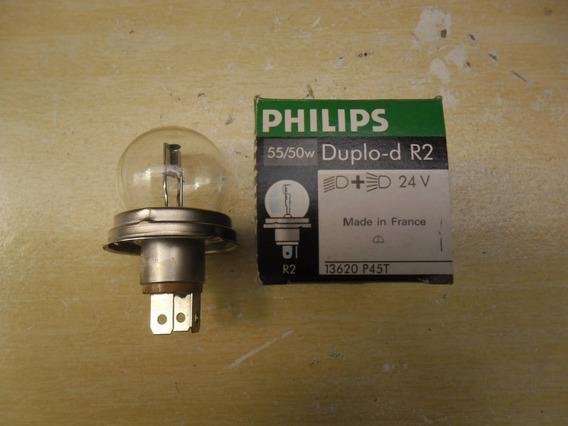Lampada Farol Assimetrica 24v 55/50w Philips Encaixe H5
