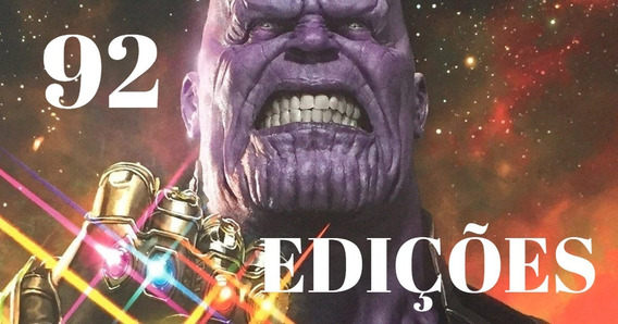 Saga De Thanos 92 Edições Marvel Vingadores Guerra Infinita