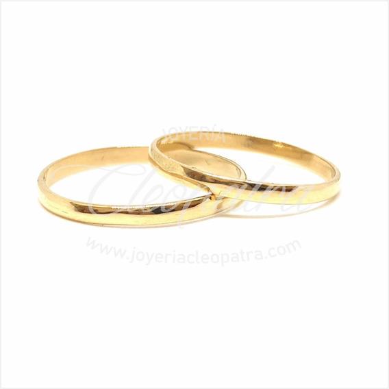 Alianzas Oro 18k 2gr Compromiso Casamiento Media Caña