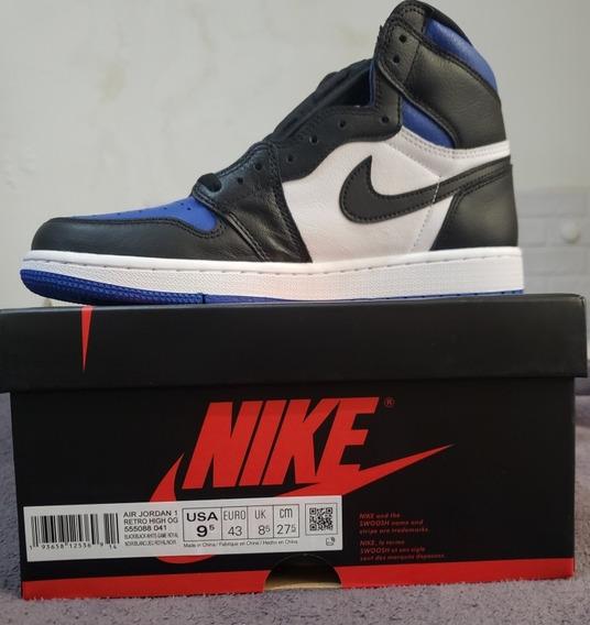 Nike Air Jordan 1 High White Royal Toe