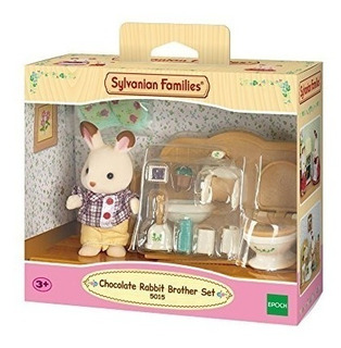 Sylvanian Families 5015 Conejo Chocolate Setl Baño