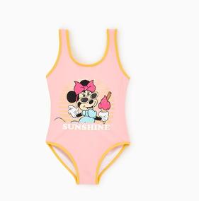 Traje De Baño Niña Minnie Mouse Disney Original