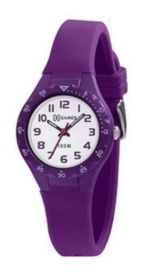 Relógio X Games Infantil Feminino Analógico Xkpp0001 Roxo