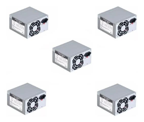 Kit 5 Fonte Pc Atx 230w Computador Pc 20+4pinos 2sata