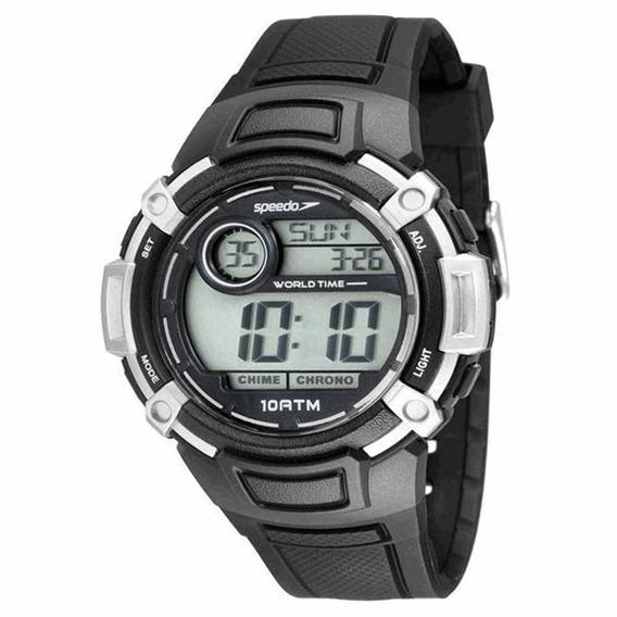 Relógio Esportivo Speedo Preto Com Prata 65091 G0evnp1