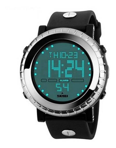 Relógio Masculino Digital Preto/prata Skmei (caixa + Certif)