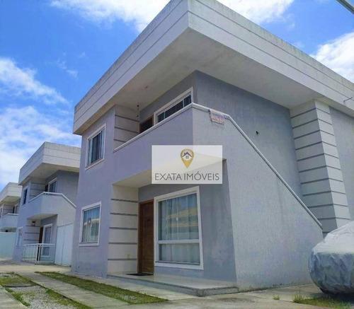 Casa Tipo Apartamento Com Quintal, Extensão Do Bosque/rio Das Ostras! - Ca0397