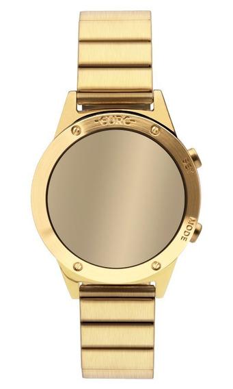 Relógio Euro Feminino Espelhado Digital Dourado Eujhs31bab4d